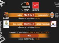 Así queda el cuadro de la Supercopa ACB 2019. Barça - Valencia y Madrid - Fuenlaba